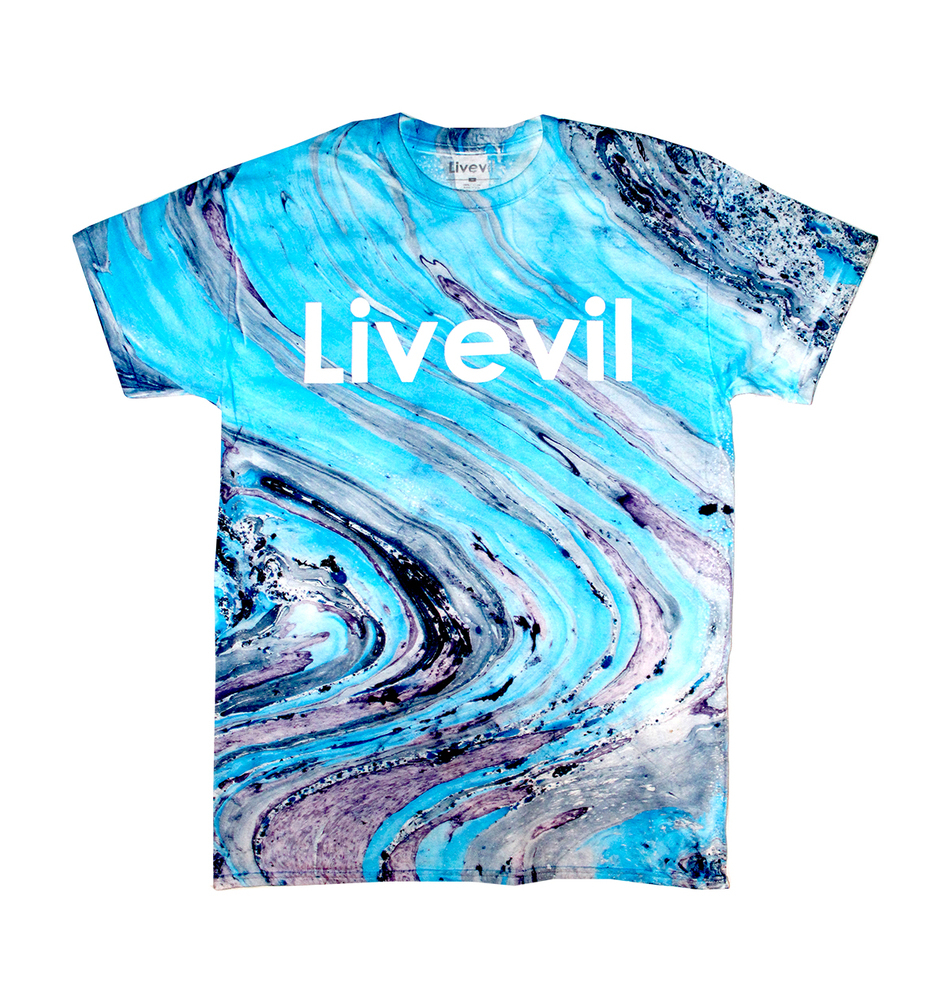 Livevil clothing co marble tie dye